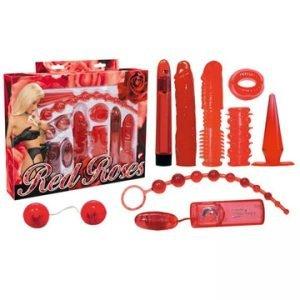 Kit oggettistica sexy rosso completo